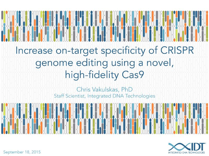 Increaseon-targetspecificityofCRISPRgenomeeditingusinganovelhigh-fidelityCas9
